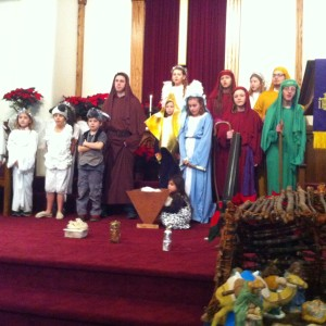 """The children of the Elmer Presbyterian Church presented their Christmas Pageant """"The Reason for the Season"""". Telling the Christmas Story in an animated and musical program."""